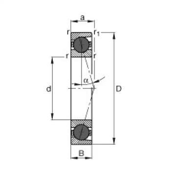 Bearing HCB7018-C-T-P4S FAG