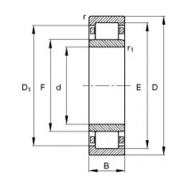 Bearing NU348-E-TB-M1 FAG