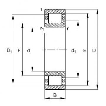 Bearing NJ407-M1 FAG