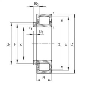 Bearing NJ407-M1 + HJ407 FAG