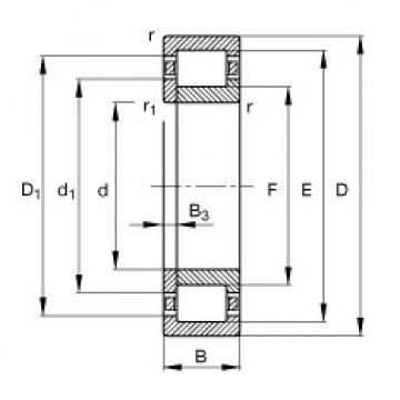 Bearing NUP232-E-M1 FAG