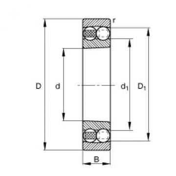 Bearing 1309-K-TVH-C3 FAG