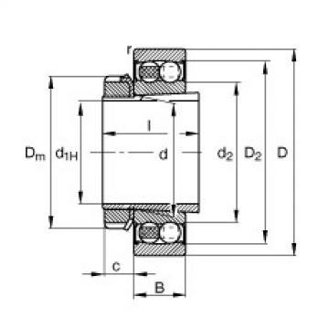 Bearing 2211-K-2RS-TVH-C3 + H311 FAG