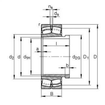 Bearing 22310-E1-K + AHX2310 FAG