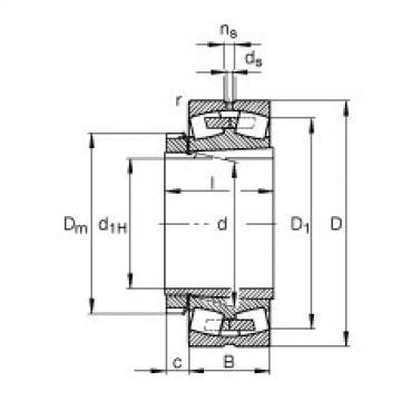 Bearing 23936-S-K-MB + H3936 FAG
