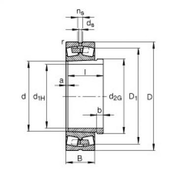 Bearing 239/560-B-K-MB + AH39/560-H FAG