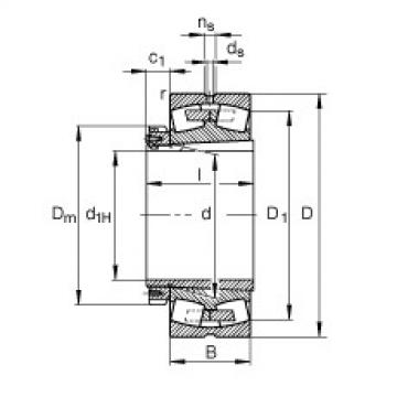 Bearing 23980-B-K-MB + H3980-HG FAG