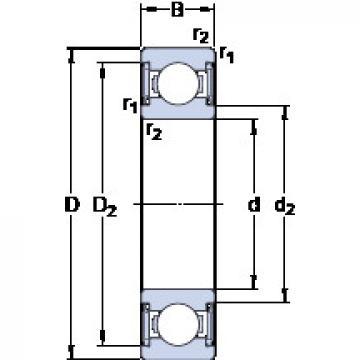 Bearing W 61800-2RS1 SKF