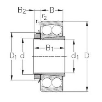 Bearing 1308-K+H308 NKE