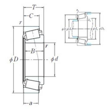 Bearing HH231649/HH231615 NSK