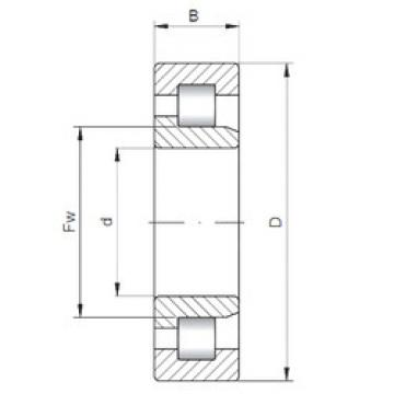 Bearing NJ3216 ISO