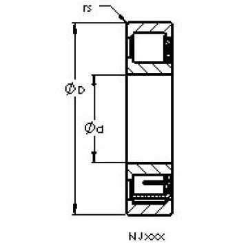 Bearing NJ407 M AST