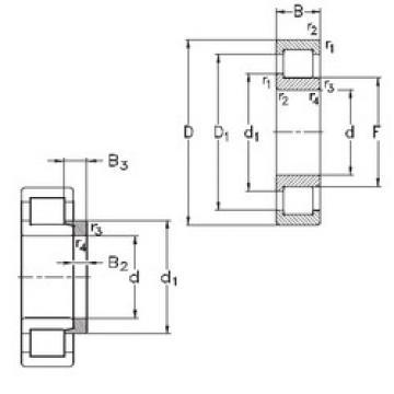Bearing NJ407-M+HJ407 NKE