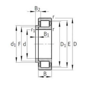 Bearing NJ336-E-M1+HJ336E FAG