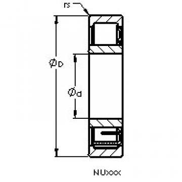 Bearing NU407 M AST