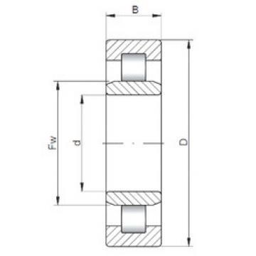 Bearing NU38/500 ISO
