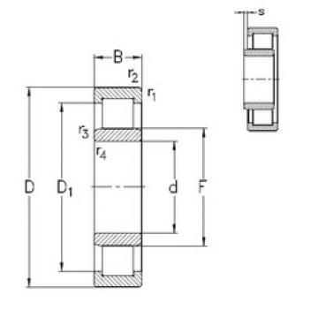 Bearing NU348-E-M6 NKE