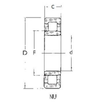 Bearing NU2208 FBJ