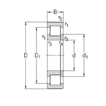 Bearing NUP219-E-TVP3 NKE
