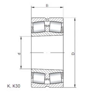 Bearing 23968 KW33 ISO