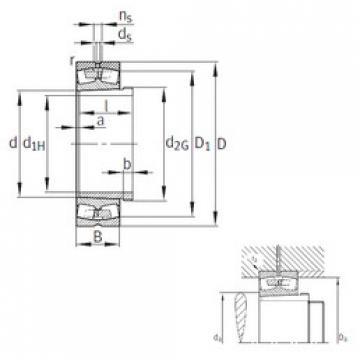 Bearing 241/500-B-K30-MB+AH241/500 FAG