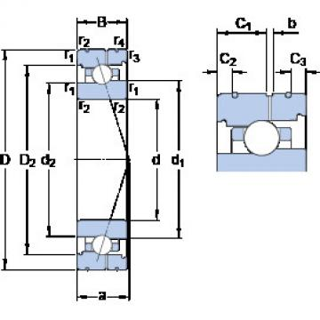 Bearing 7017 ACB/HCP4AL SKF