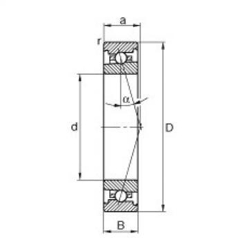 Bearing HS7006-C-T-P4S FAG