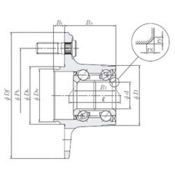 Bearing HUB215-9 NTN