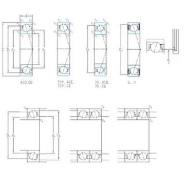 Bearing S7017 ACD/HCP4A SKF