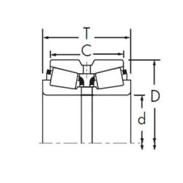 Bearing 13687/13621D+X1S-13687 Timken