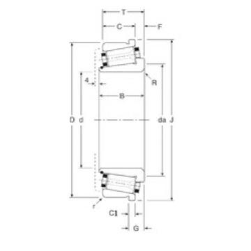 Bearing 113057X/113100C Gamet