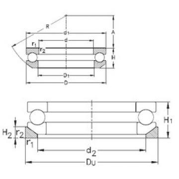 Bearing 53205+U205 NKE
