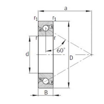 Bearing 7602025-2RS-TVP FAG