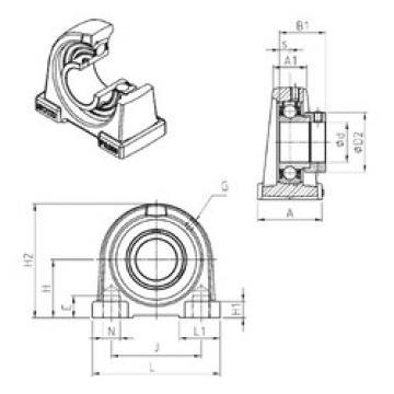 Bearing ESPA206 SNR