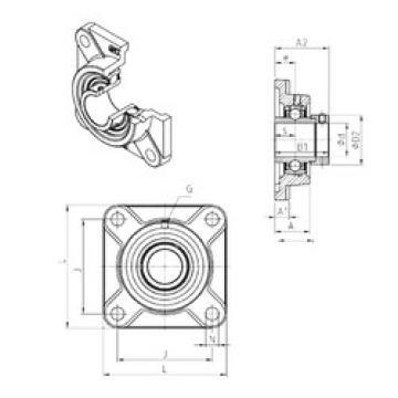 Bearing EXF318 SNR