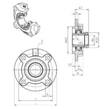 Bearing EXFC202 SNR