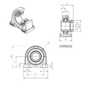 Bearing EXPAE208 SNR