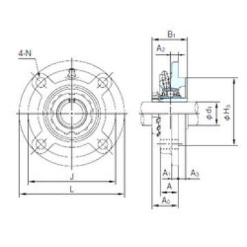 Bearing UKFCX09+H2309 NACHI