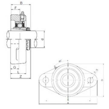 Bearing UKFL206 ISO
