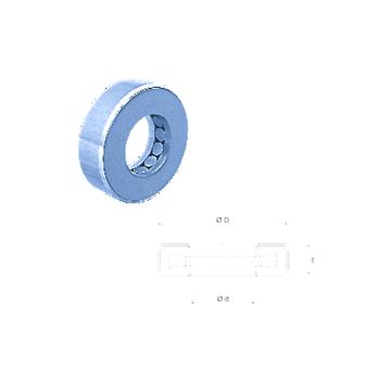 T163 Fersa Thrust Roller Bearings