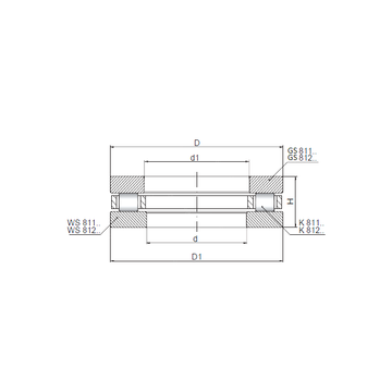 81136 ISO Thrust Roller Bearings