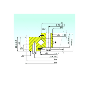 ER1.14.0944.201-3STPN ISB Thrust Roller Bearings