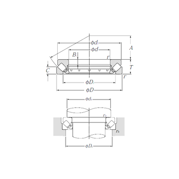 29380 NTN Thrust Roller Bearings