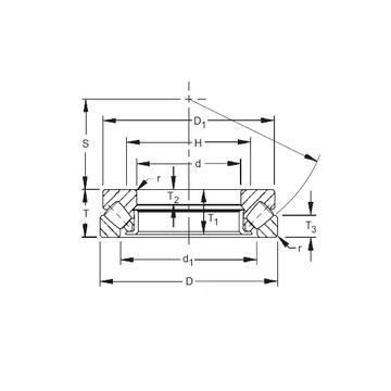 29448EM Timken Thrust Roller Bearings