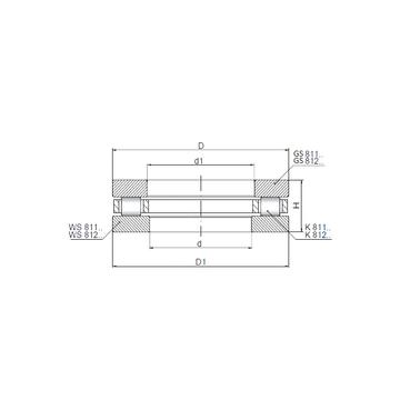 811/630 ISO Thrust Roller Bearings