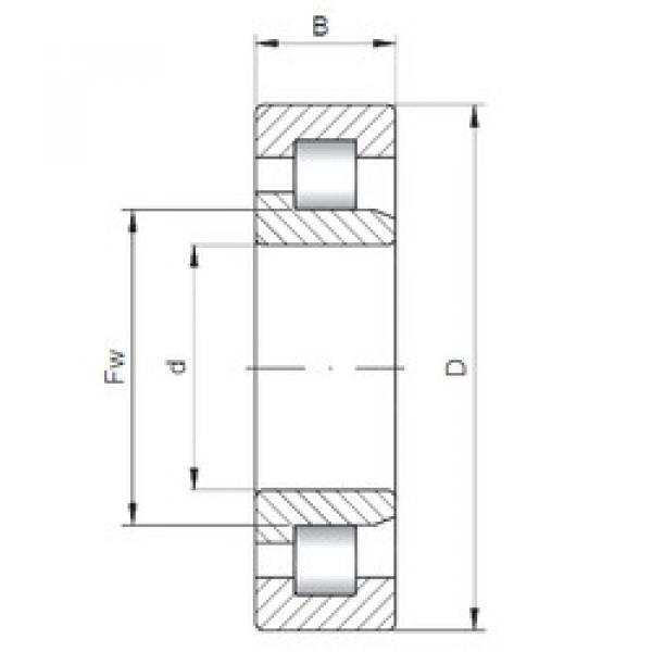 Bearing NJ321 ISO #1 image