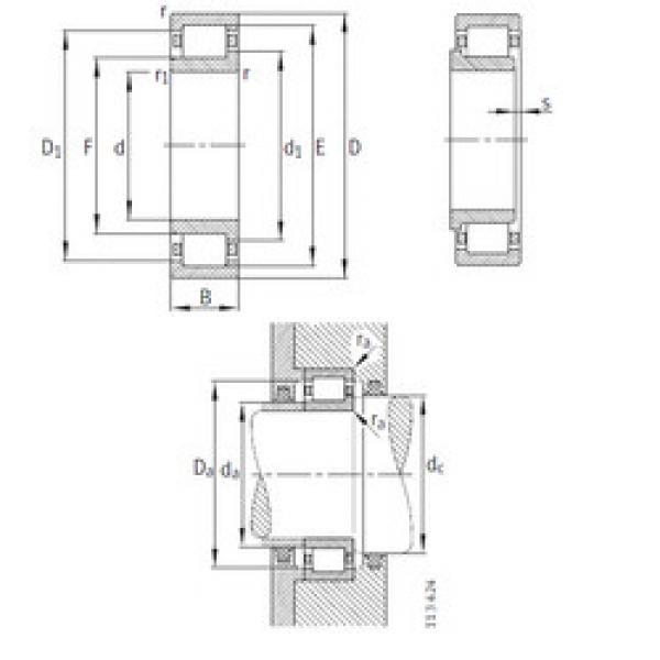 Bearing NJ334-E-M1 FAG #1 image