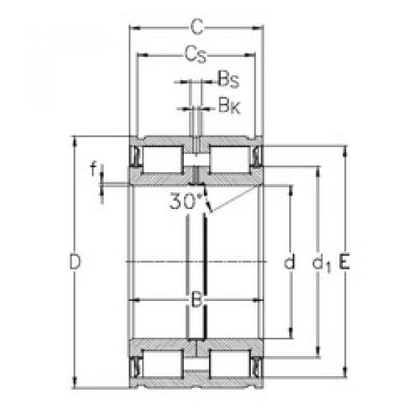 Bearing NNF5015-2LS-V NKE #1 image