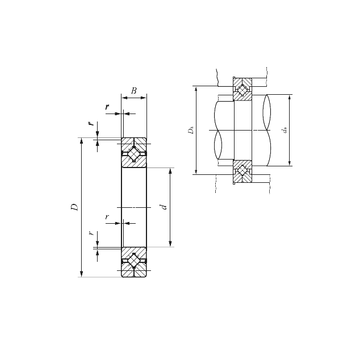 CRB 25025 UU IKO Thrust Roller Bearings #1 image
