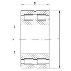 Bearing NNC4832 V ISO